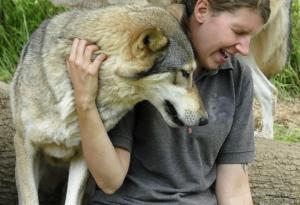 Isla-Fishburn and wolf dog